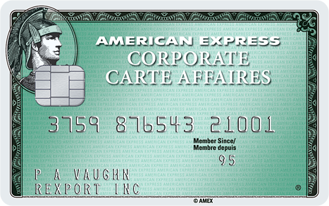 Corporate credit cards american express canada corporate card reheart Images