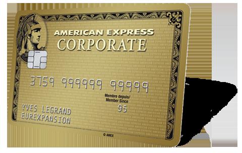 Carte American Express Retrait.Carte Corporate Gold American Express