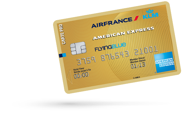 Carte PRO AIR FRANCE KLM - AMERICAN EXPRESS GOLD