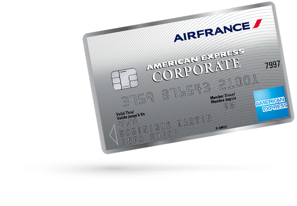 Carte Corporate AIR FRANCE - AMERICAN EXPRESS