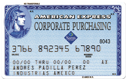 Corporate Purchasing Card SAM's Club