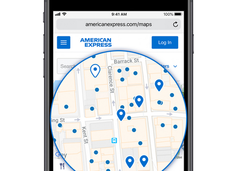 American Express Maps