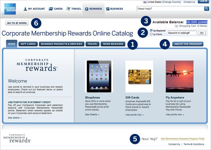 Catalog homepage
