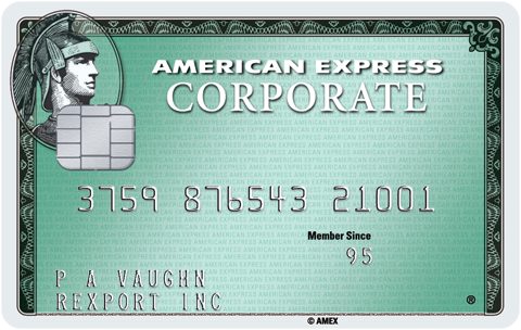 Corporate Green Card With Chip