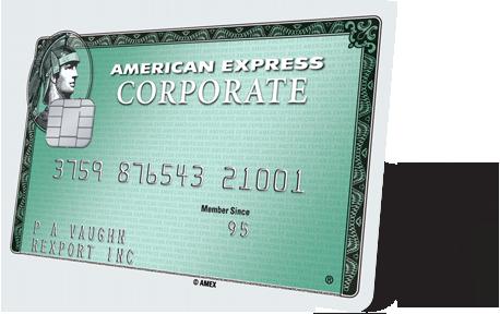 Corporate Credit Card American Express 174 Corporate Green